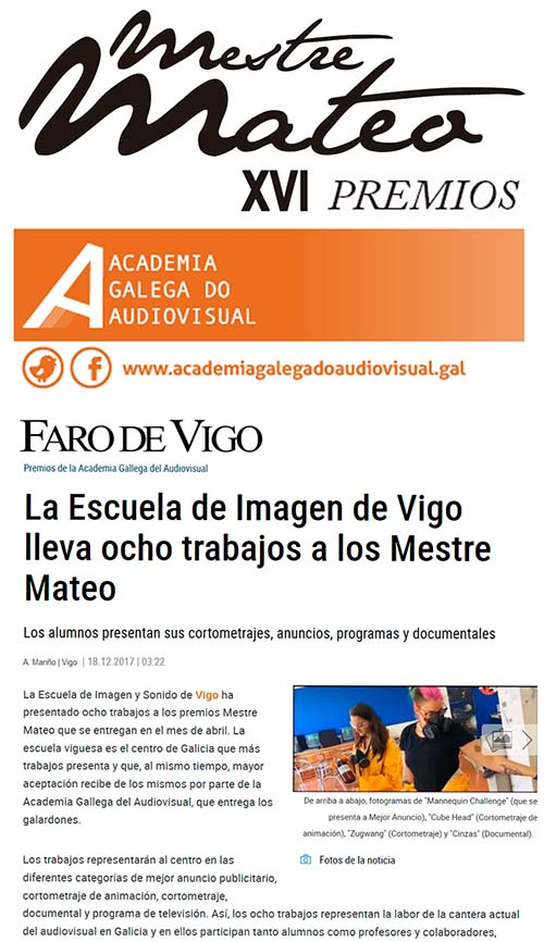 EISV Premios Mestre Mateo AGA