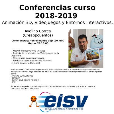 Conferencias EISV. Como destacar en el mundo app. Avelino Correa (Creappcuentos).