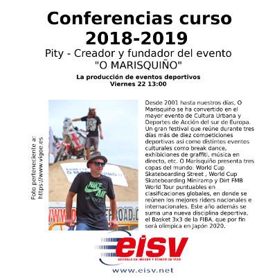 Conferencias EISV. La producción de eventos deportivos 'O Marisquiño'