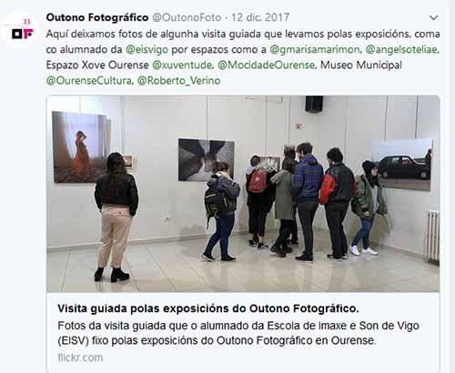 alumnos en el Outono fotográfico Ourense