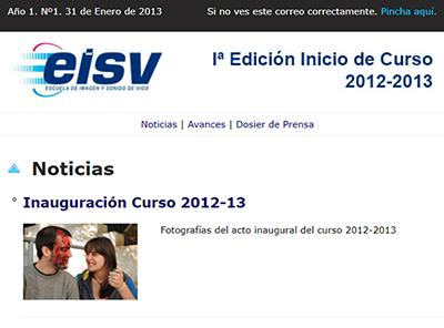 Ir a EISV Newsletter 01 - 31 de Enero de 2013