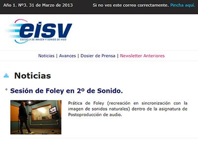Ir a EISV Newsletter 03 - 31 de Marzo de 2013