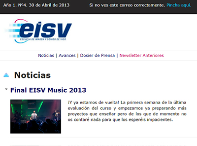 Ir a EISV Newsletter 04 - 30 de Abril de 2013