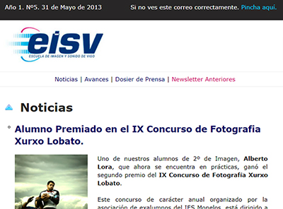 Ir a EISV Newsletter 05  - 24 de Mayo de 2013