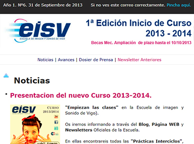 Ir a EISV Newsletter 06 24 de Septiembre de 2013