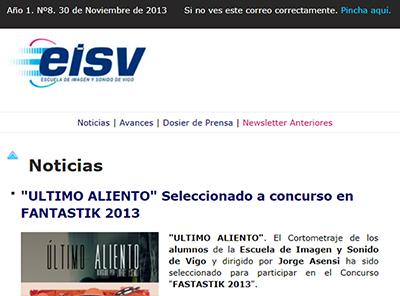 Ir a EISV Newsletter 08 - 30 de Noviembre de 2013