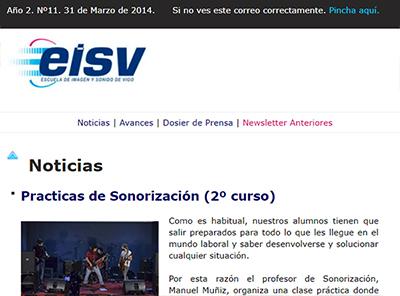 Ir a EISV Newsletter 11 - 31 de Marzo de 2014