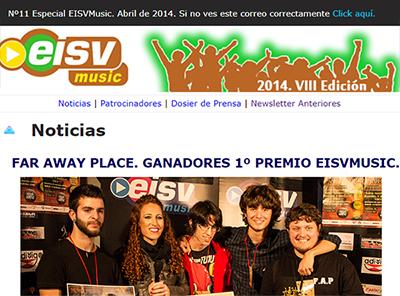 Ir a EISV Newsletter 11 Especial. EISVMusic 2014