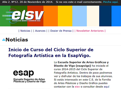 Ir a EISV Newsletter 12 - Noviembre de 2014