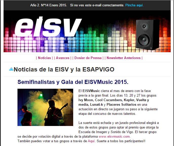 Ir a EISV Newsletter 14 - Enero de 2015