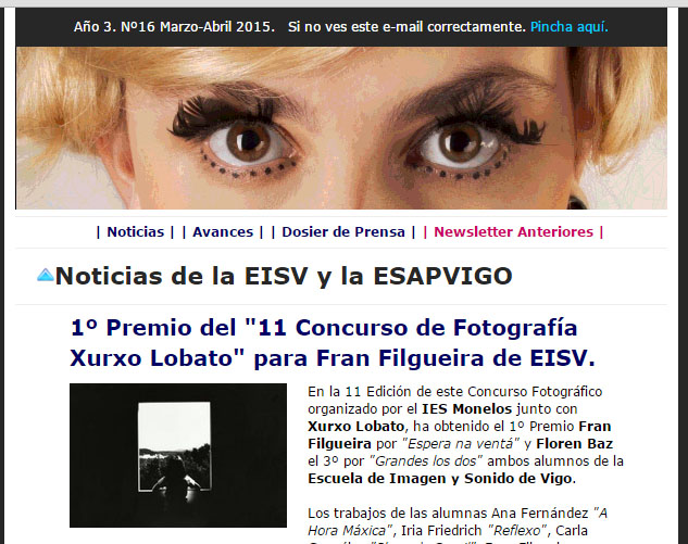 Ir a EISV Newsletter 16 - Marzo-Abril de 2015