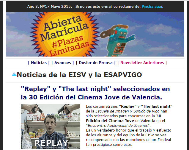 Ir a EISV Newsletter 17 - Mayo de 2015