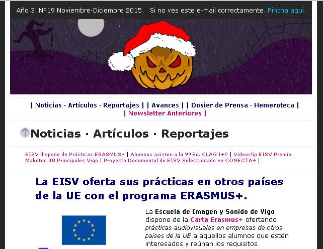 Ir a EISV Newsletter 19 - Noviembre-Diciembre de 2015