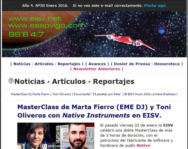 Ir a EISV Newsletter 20 - Enero de 2016