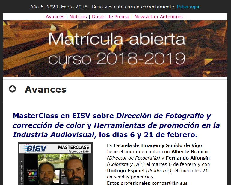 Ir a EISV Newsletter 24 - Enero de 2018
