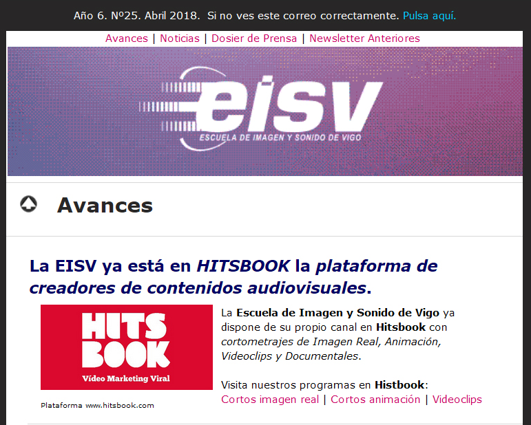 Ir a EISV Newsletter 25 - Abril de 2018