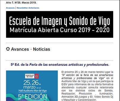 Ir a EISV Newsletter 28 Marzo de 2019