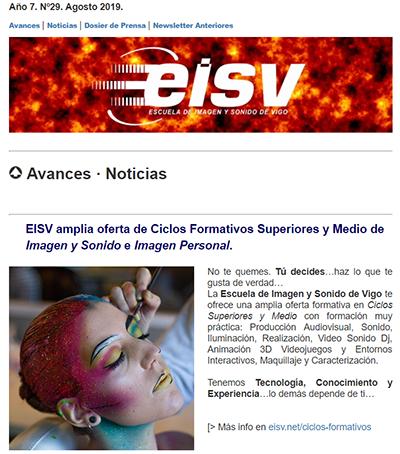 Ir a EISV Newsletter 29 Agosto de 2019