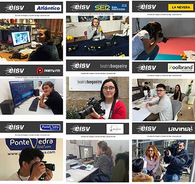 Alumnos de EISV realizan sus prácticas en importantes empresas del sector audiovisual